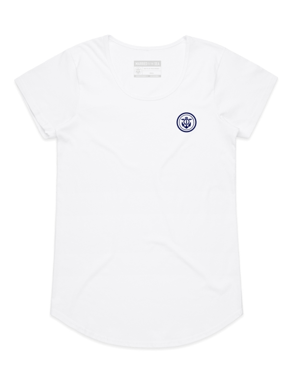 anchor t-shirt white