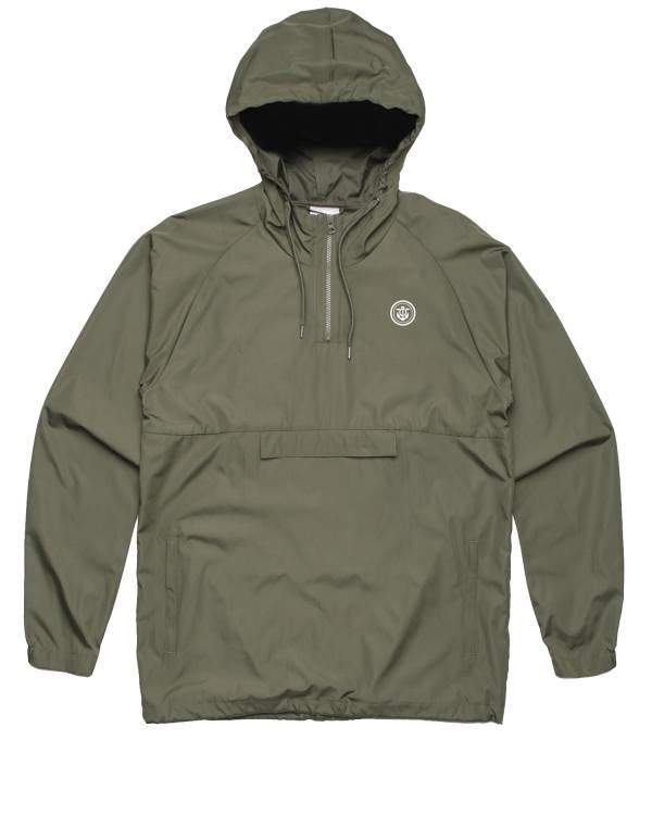 Anchor windbreaker quarter zip army