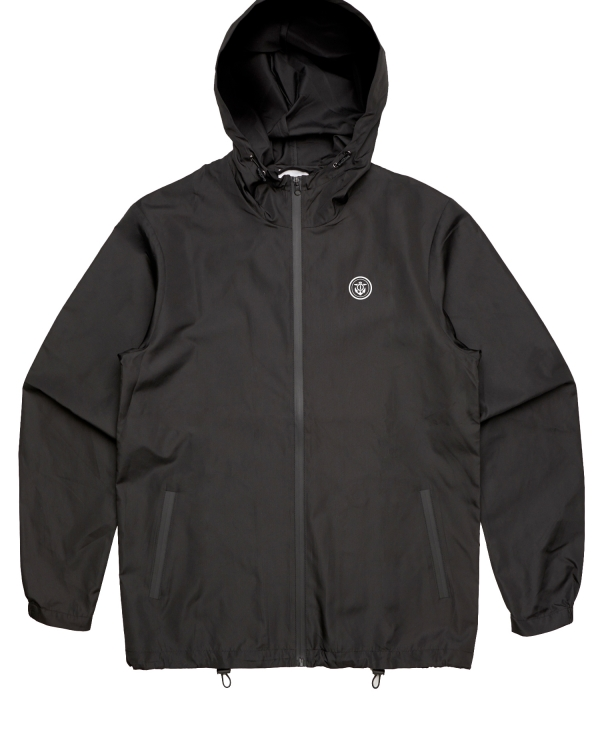 Anchor Windbreaker full zip black