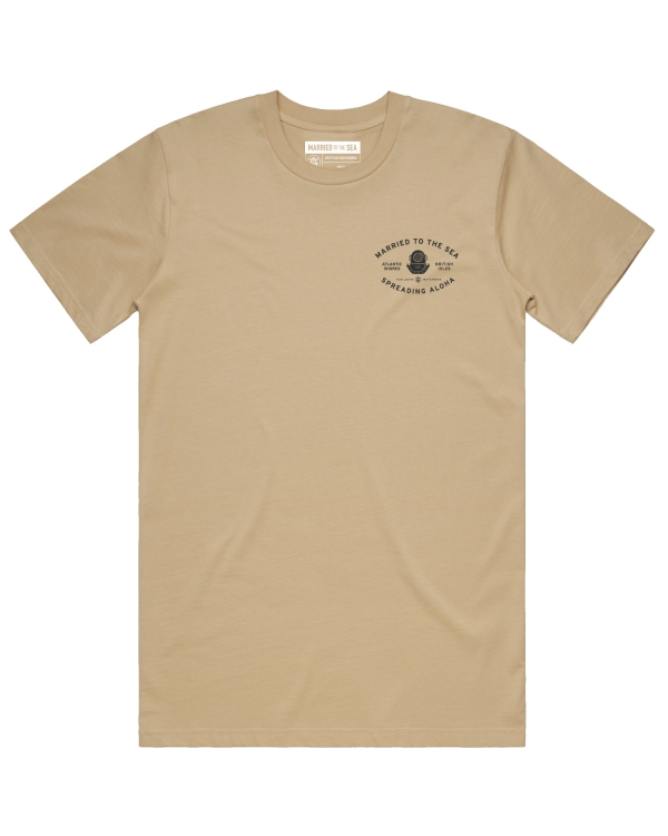 Mens deep sea t-shirt tan