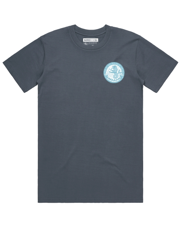 Mens sealion t-shirt indigo