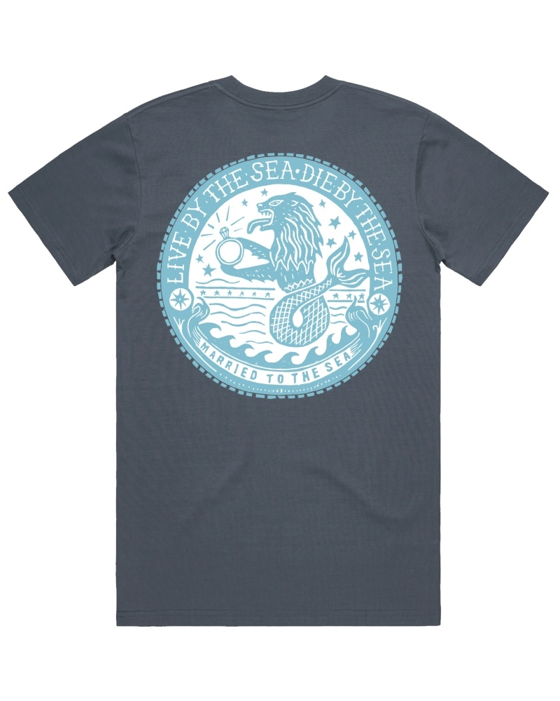Sealion t-shirt indigo