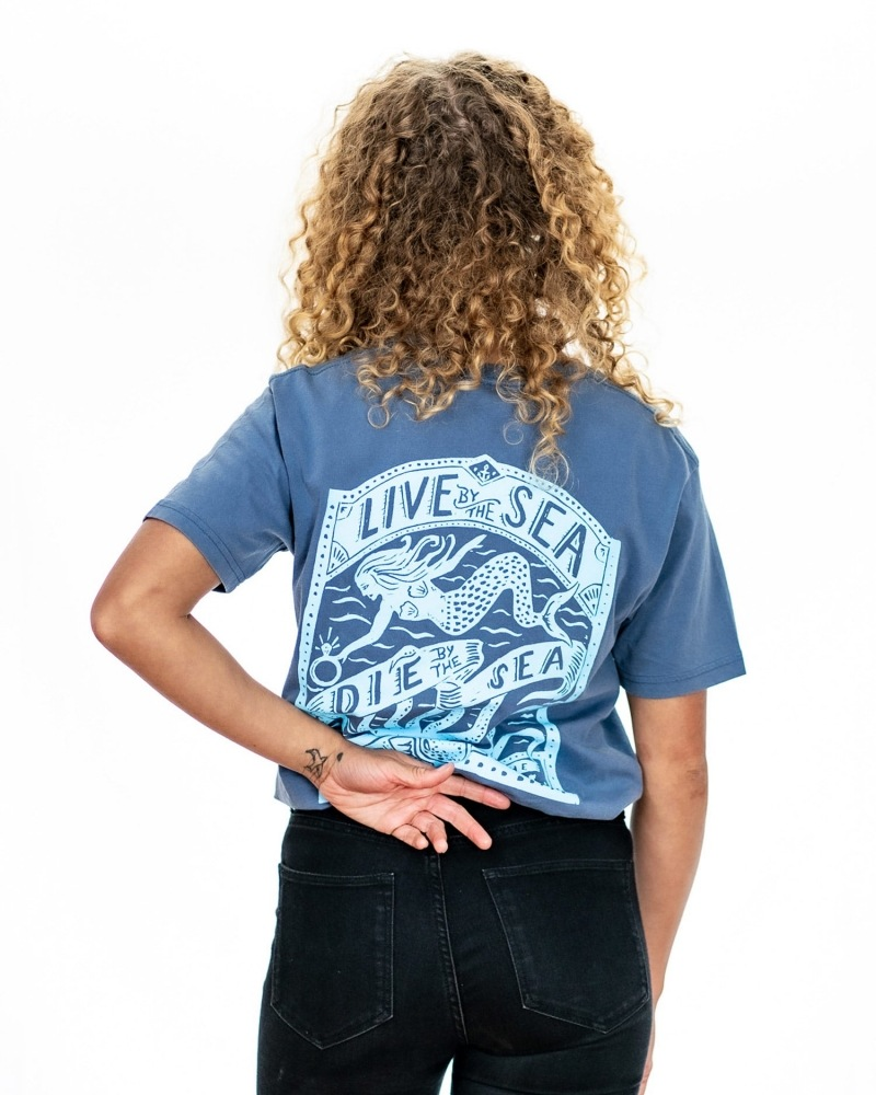 Octopus t-shirt womens indigo