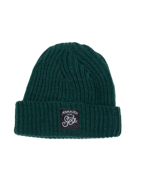 Bottle green trawler beanie