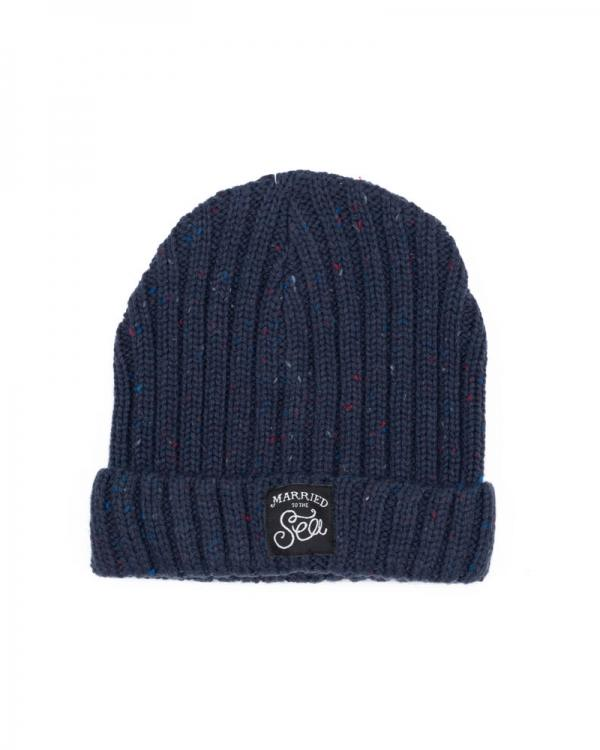 Rustic French navy beanie