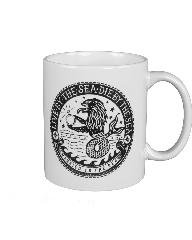 Sealion print white mug