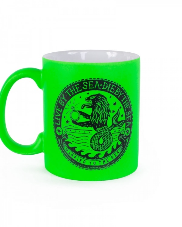 Sealion neon green mug