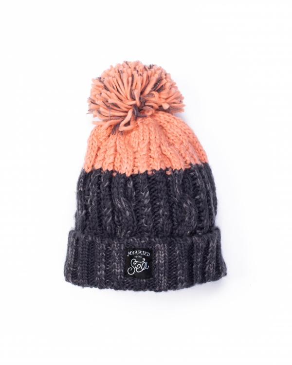 Apre beanie graphite grey blush