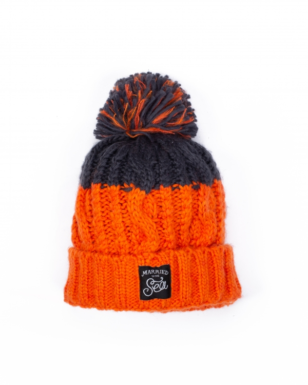 Apres beanie orange graphite