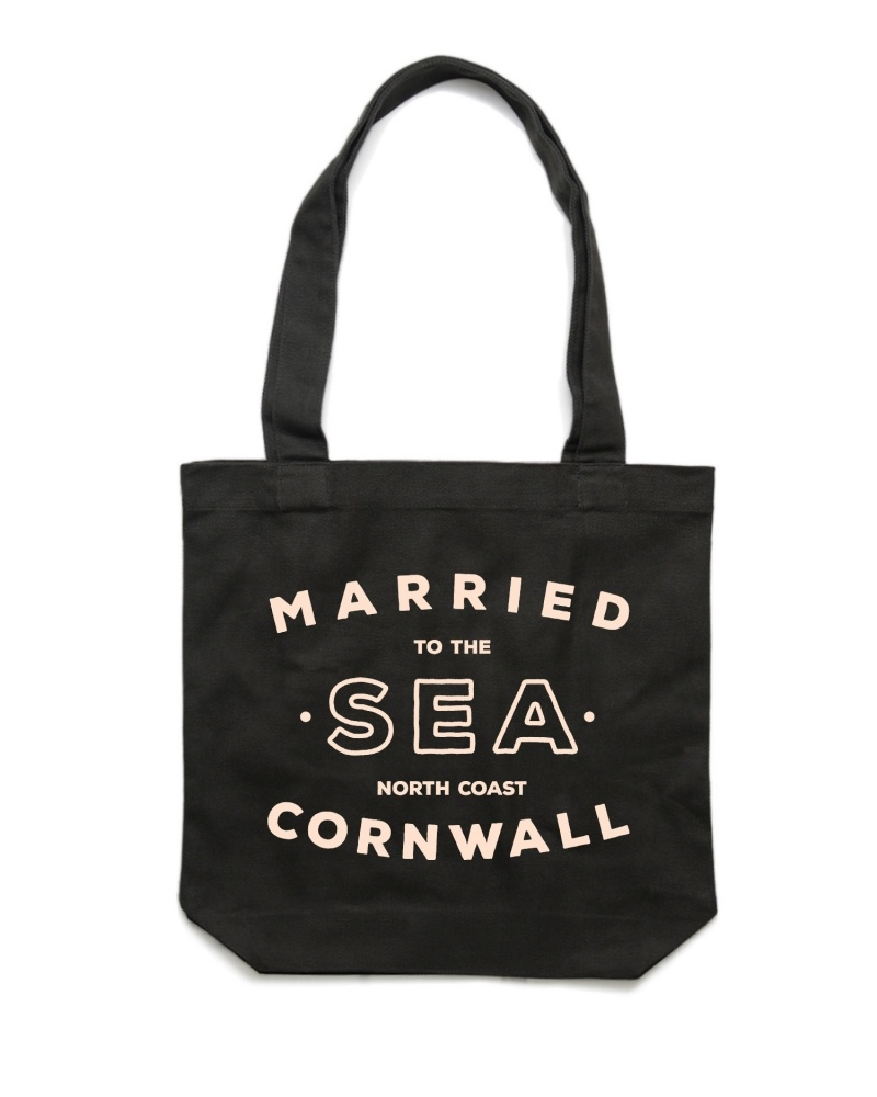 Black shopper bag Married to the Sea