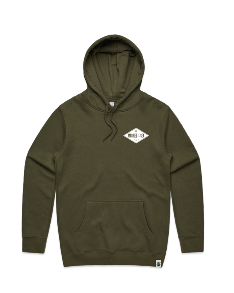 Diamond-Men's-Hoodie-Army