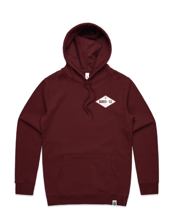 Diamond-Men's-Hoofie-Burgundy