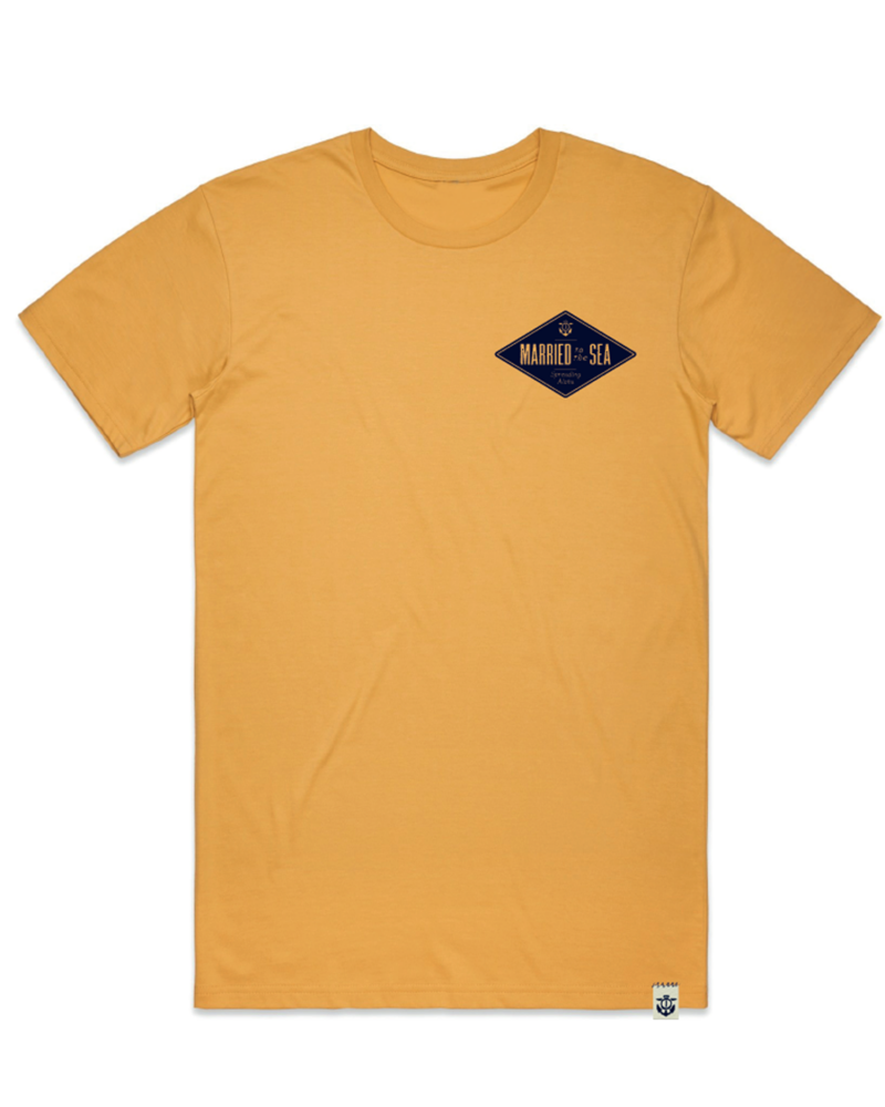 Diamond-Men's-T-shirt-mustard