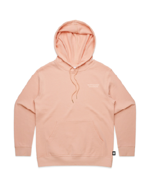 Dreamers-women's-hoodie-pale-pink-front