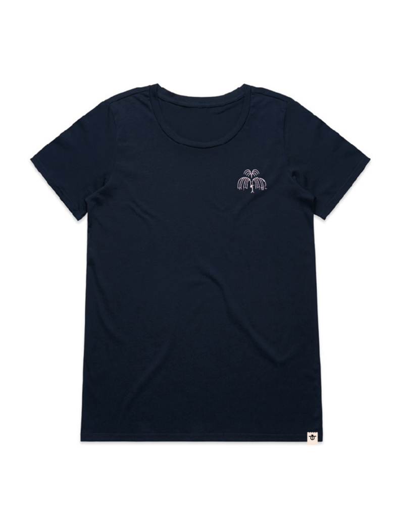 Melt-women's-t-shirt-navy-front