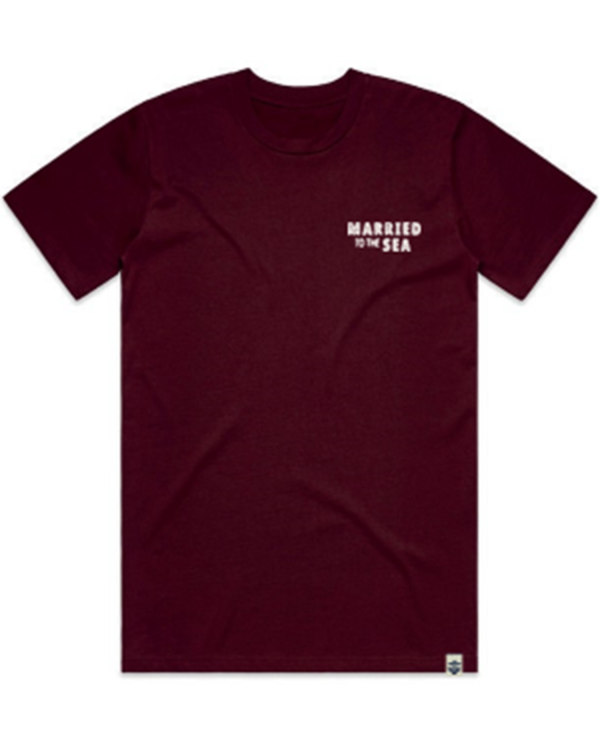 Sealion-T-shirt-Burgundy-Front