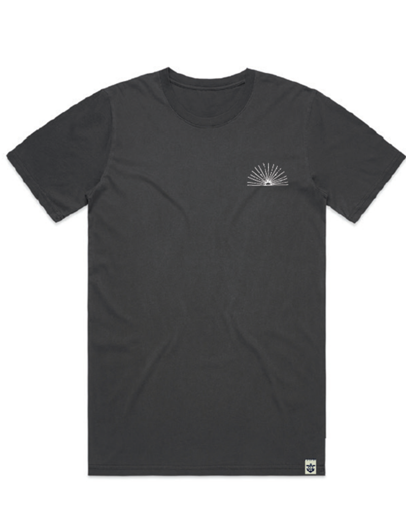 Sunrise-men's-t-shirt-black-front