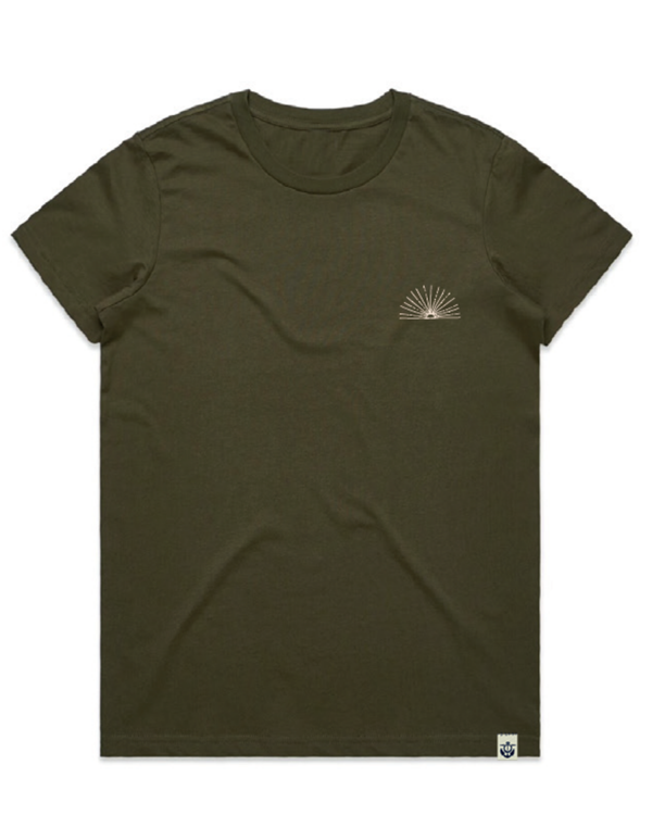 Sunrise-women's-t-shirt-army